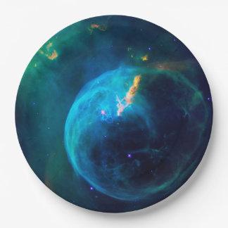 Prato De Papel Nebulosa da bolha