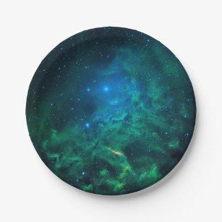 Prato De Papel Nebulosa flamejante da estrela
