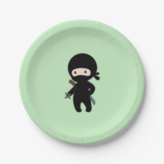 Prato De Papel Ninja minúsculo que guardara a estrela de jogo no