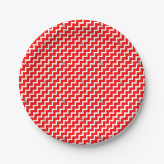 Prato De Papel Nota musical - teste padrão geométrico abstrato -