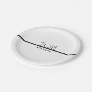 Prato De Papel O ano novo minimalista de placas de papel da