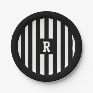 Prato De Papel O árbitro do futebol americano listra as placas de