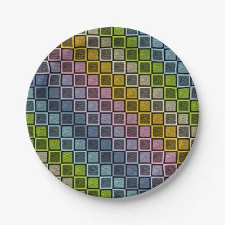 Prato De Papel O arco-íris Pastel estático esquadra o preto