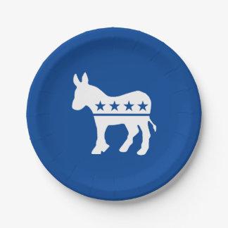 Prato De Papel O asno de Democrata personaliza
