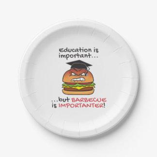 Prato De Papel O assado é hamburguer irritado engraçado do