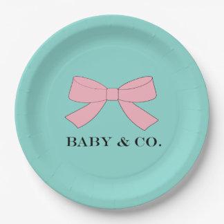 Prato De Papel O bebê do BEBÊ & do CO. Tiffany revela as placas