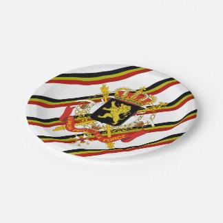 Prato De Papel O belga listra a bandeira