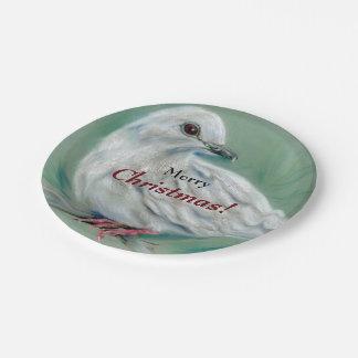 Prato De Papel O branco mergulhou no Natal do pinho