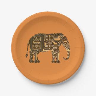 Prato De Papel O conselho de circuito do elefante