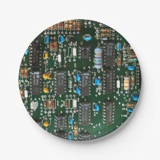 Prato De Papel O conselho de circuito impresso do computador