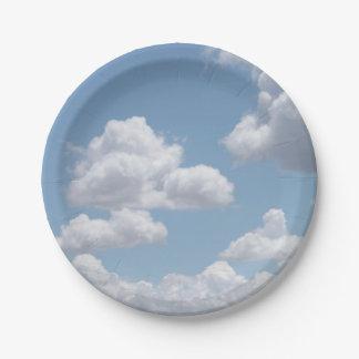 Prato De Papel O conto de fadas nubla-se as placas de papel