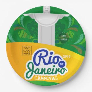 Prato De Papel O costume do carnaval de Rio de Janeiro adiciona o