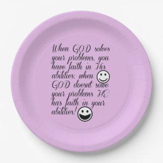 Prato De Papel O deus resolve seu problema
