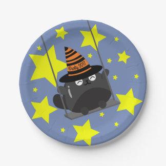 Prato De Papel O Dia das Bruxas customizável - o Dia das Bruxas