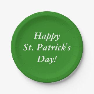 Prato De Papel O dia de St Patrick feliz!