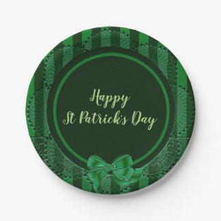 Prato De Papel O dia de St Patrick - placa de papel redonda do