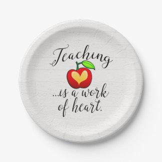 Prato De Papel O ensino é um trabalho da apreciação do professor