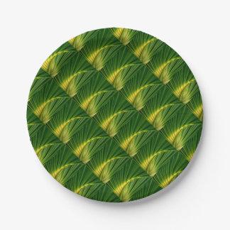 Prato De Papel O fã verde