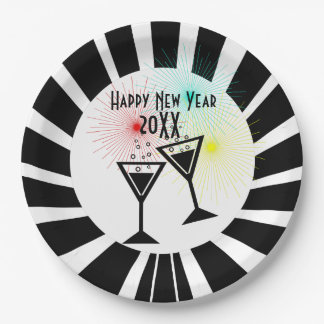 Prato De Papel O feliz ano novo