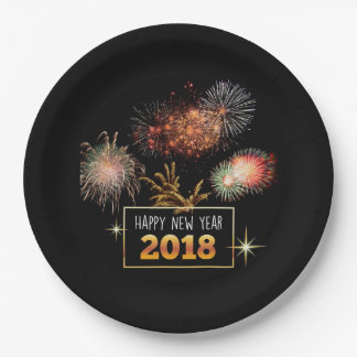 Prato De Papel O feliz ano novo 2018