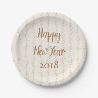 Prato De Papel O feliz ano novo do tempo do partido