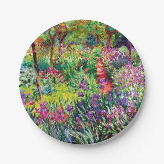 Prato De Papel O jardim da íris em Giverny por Claude Monet