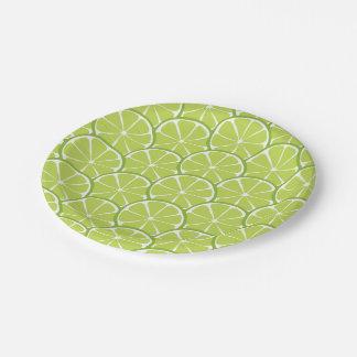 Prato De Papel O limão do citrino do verão corta as placas de