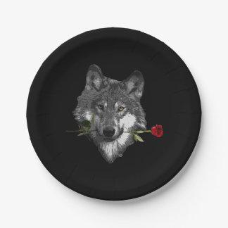 Prato De Papel O lobo aumentou