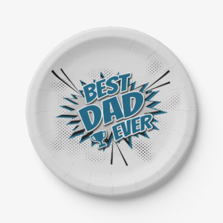 Prato De Papel O melhor pai nunca