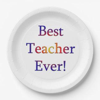 Prato De Papel O melhor professor nunca