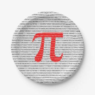 Prato De Papel O número vermelho pi é um símbolo da constante