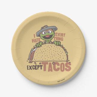 Prato De Papel O ódio de OscarI tudo excetua o Tacos