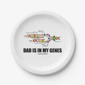 Prato De Papel O pai está em meu humor da réplica do ADN dos