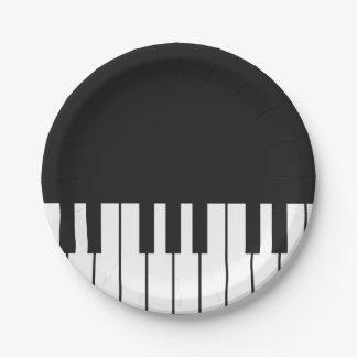Prato De Papel O piano fecha as placas de papel