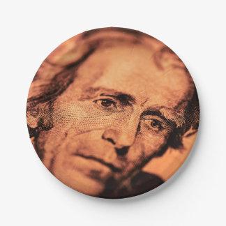 Prato De Papel O presidente indescritível Jackson