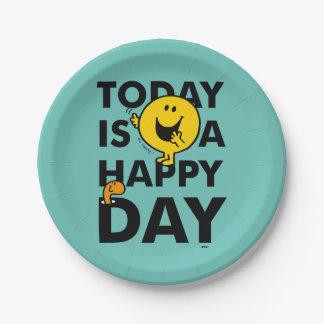 Prato De Papel O Sr. Feliz | é hoje um dia feliz