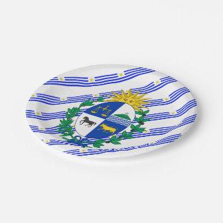 Prato De Papel O Uruguayan listra a bandeira