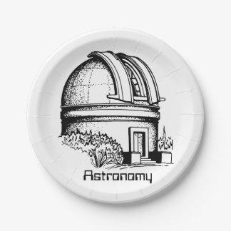 Prato De Papel Obervatório da astronomia