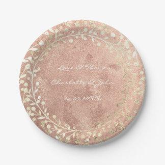 Prato De Papel Obrigado mais foxier do cobre da grinalda do ouro