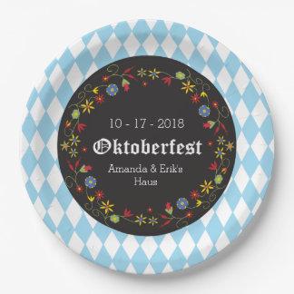 Prato De Papel Octoberfest, placas do partido de Oktoberfest -