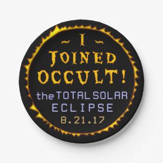 Prato De Papel Oculto engraçado eclipse solar do 21 de agosto de