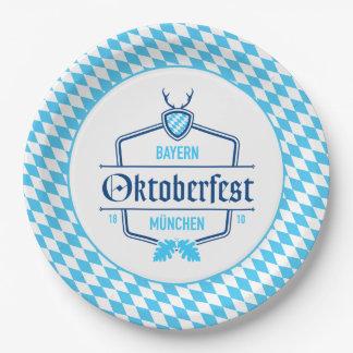 Prato De Papel Oktoberfest Munich, placa de papel de Baviera