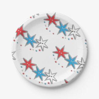 Prato De Papel Olhares estrelados - placas de papel de um tema