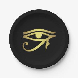 Prato De Papel Olho do símbolo do egípcio do horus