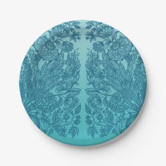 Prato De Papel ornaments o azul