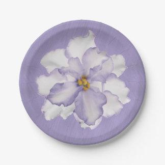 Prato De Papel Orquídea bonita da lavanda