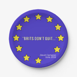 """Prato De Papel Os """"Británico não param!"""" placa de papel"""