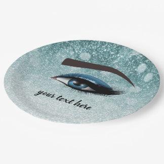 Prato De Papel Os chicotes glam azuis eyes o maquilhador de |