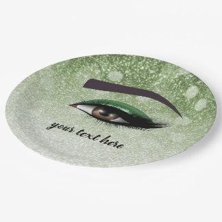 Prato De Papel Os chicotes glam verdes eyes o maquilhador de |