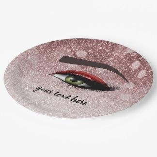 Prato De Papel Os chicotes glam vermelhos eyes o maquilhador de |